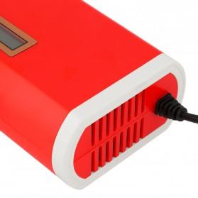 Charger Aki Mobil Motor 12V 6A dengan LCD - FBC1205D - Red - 2