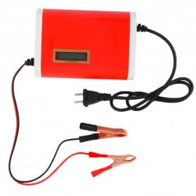 Charger Aki Mobil Motor 12V 6A dengan LCD - FBC1205D - Red - 3