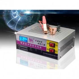 Intelligent Repair Charger Aki Mobil Motor 12-24V 10A dengan LCD - YX1224-3 - White - 2