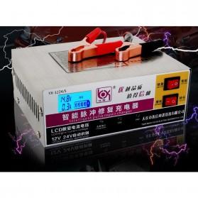 Intelligent Repair Charger Aki Mobil Motor 12-24V 10A dengan LCD - YX1224-3 - White - 4