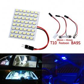 Yue Xin Shun Lampu Mobil Headlight LED T10 BA9S W5W 48 SMD 3528 1 PCS - Warm White - 4