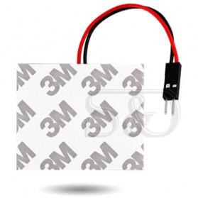 Yue Xin Shun Lampu Mobil Headlight LED T10 BA9S W5W 48 SMD 3528 1 PCS - Warm White - 6