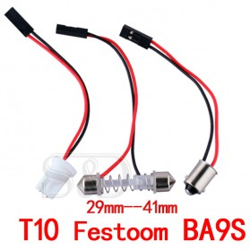 Yue Xin Shun Lampu Mobil Headlight LED T10 BA9S W5W 48 SMD 3528 1 PCS - Warm White - 7