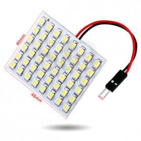 Yue Xin Shun Lampu Mobil Headlight LED T10 BA9S W5W 48 SMD 3528 1 PCS - Warm White - 8
