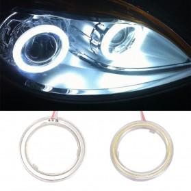 Lampu Mobil LED Angel Eye COB 90mm 2PCS - White