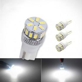 Lampu Mobil Headlight LED T10 W5W 18 SMD 3014 2 PCS - White - 1