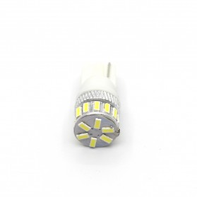 Lampu Mobil Headlight LED T10 W5W 18 SMD 3014 2 PCS - White - 2