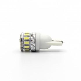 Lampu Mobil Headlight LED T10 W5W 18 SMD 3014 2 PCS - White - 3