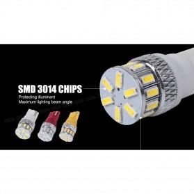 Lampu Mobil Headlight LED T10 W5W 18 SMD 3014 2 PCS - White - 9