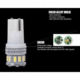 Lampu Mobil Headlight LED T10 W5W 18 SMD 3014 2 PCS - White - 10