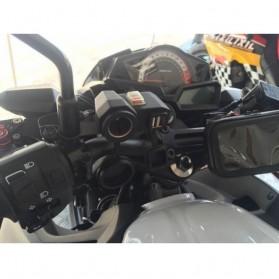 YANTU USB Charger Motor 2 Port dengan Cigarette Plug 12V - 170513 - Black - 5