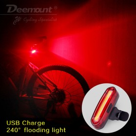 Deemount Lampu Sepeda LED Taillight USB Rechargeable 120 Lumens - DC-115 - Red/White