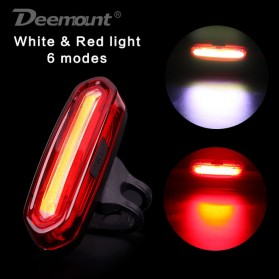 Deemount Lampu Sepeda LED Taillight 120 Lumens - AQY-096 - Red/White - 2