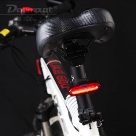 Deemount Lampu Sepeda LED Taillight 120 Lumens - AQY-096 - Red/White - 5