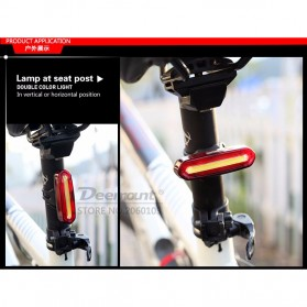 Deemount Lampu Sepeda LED Taillight 120 Lumens - AQY-096 - Red/White - 11