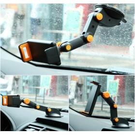 Car Holder Smartphone Joint Suction Cup - Black/Orange
