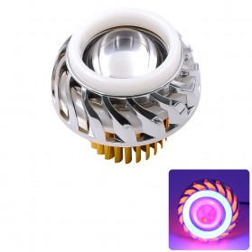 Lampu Motor LED Angel Devil Eye 10W 1 PCS - Blue/Red