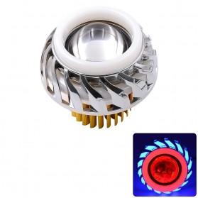 Lampu Motor LED Angel Devil Eye 10W 1 PCS - Red/Blue