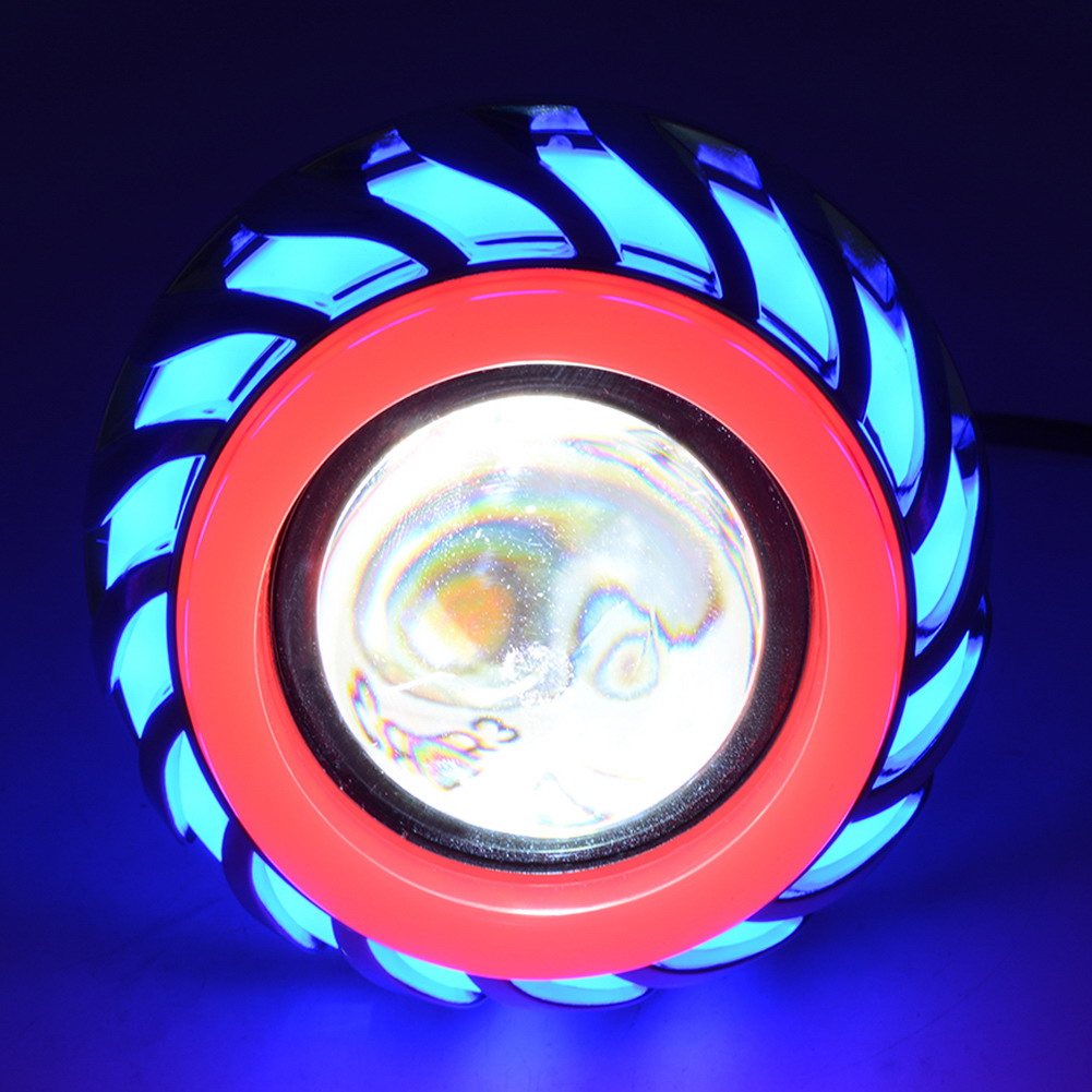 Lampu Motor Led Angel Devil Eye 10w 1pcs Red Blue