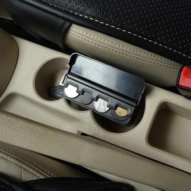 XUNZHE Kotak Uang Koin Receh Mobil -1222ZSY - Black - 2