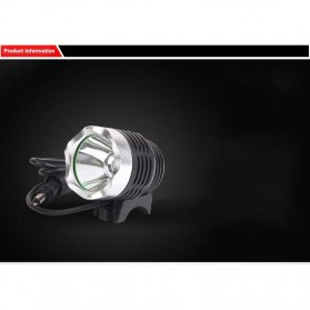 Newboler Lampu Sepeda DC 1800 Lumens CREE XML - T6 - Black - 4