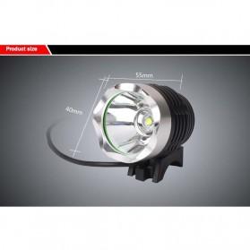 Newboler Lampu Sepeda DC 1800 Lumens CREE XML - T6 - Black - 5