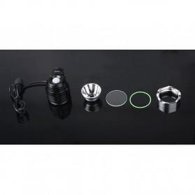 Newboler Lampu Sepeda DC 1800 Lumens CREE XML - T6 - Black - 8