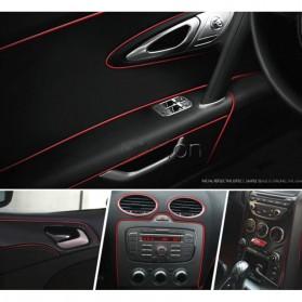 LIN&GUO Stiker Dekorasi Interior Mobil 5M - HZX - Red