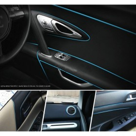 LIN&GUO Stiker Dekorasi Interior Mobil 5M - HZX - Blue