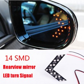 Lampu LED 14 SMD Sein Kaca Samping Mobil 2 PCS - LJY1989 - Yellow - 4
