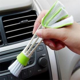 VODOOL Sikat Pembersih Microfiber Interior Mobil Duster Brush - Q128 - Green - 2