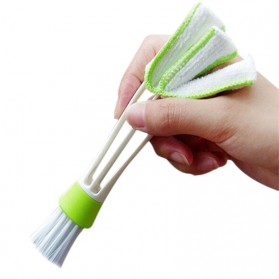 VODOOL Sikat Pembersih Microfiber Interior Mobil Duster Brush - Q128 - Green - 3