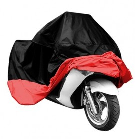 Cover Sarung Pelindung Motor Size XXL - Black/Red