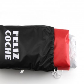 Felis Choce Cover Sarung Pelindung Motor Size XXL - Black/Red - 5