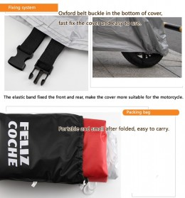 Felis Choce Cover Sarung Pelindung Motor Size XXL - Black/Red - 6