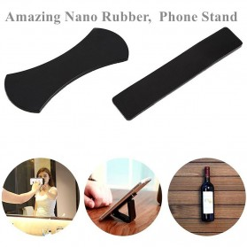 Magic Nano Stiker Smartphone Car Holder 2 in 1 - Black - 2