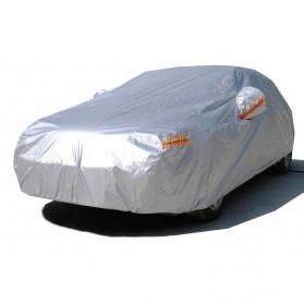 Sarung Cover Mobil Sedan Alumunium Size 3L - Silver