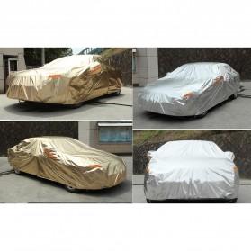 Sarung Cover Mobil Sedan Alumunium Size 3L - Silver - 2