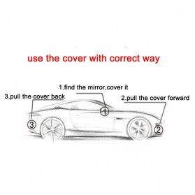 Sarung Cover Mobil Sedan Alumunium Size 3L - Silver - 3