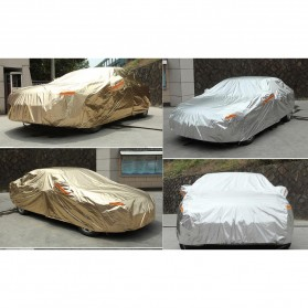 Sarung Cover Mobil SUV Alumunium Size YM - Silver - 2
