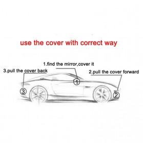 Sarung Cover Mobil SUV Alumunium Size YL - Silver - 3