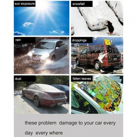 Sarung Cover Mobil SUV Alumunium Size YXL - Silver - 4