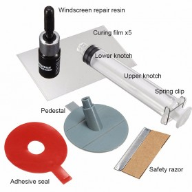 Alat Reparasi Kaca Mobil Retak Windshield Repair Kit - XJ-01 - 2
