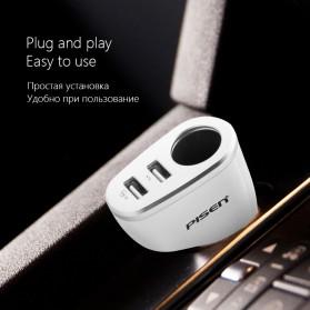 Car Charger Dual Port USB dengan Cigarette Plug - White - 2