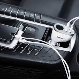 Car Charger Dual Port USB dengan Cigarette Plug - White - 5