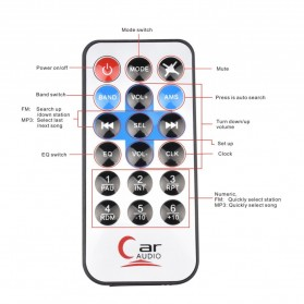 Audio Player Mobil 12V 1Din FM Receiver AUX USB SD Slot - CDX-GT1044 - Black - 9