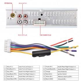 Audio Player Mobil 12V 1Din FM Receiver AUX USB SD Slot - CDX-GT1044 - Black - 10