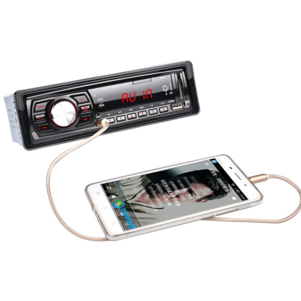 1DIN 50W x 4 FM Car Receiver Stereo LED Display SD USB MP3 WMA Radio Player US