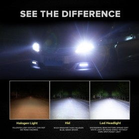 Lampu Mobil Headlight LED C6 H7 COB 2 PCS - White - 8