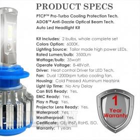 Lampu Mobil Headlight LED H7 SMD 2 PCS - White - 6